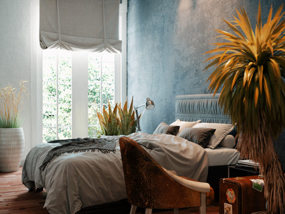Elizabeth Rosie Residence Bedroom - A snap shot from animation
