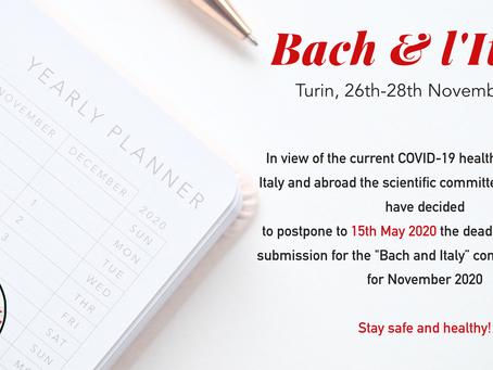 Bach, l'Italia e il CODIV-19