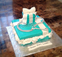 Tiffany Gift Box Set Cake