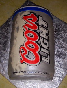 2D Coors Lights Can cake