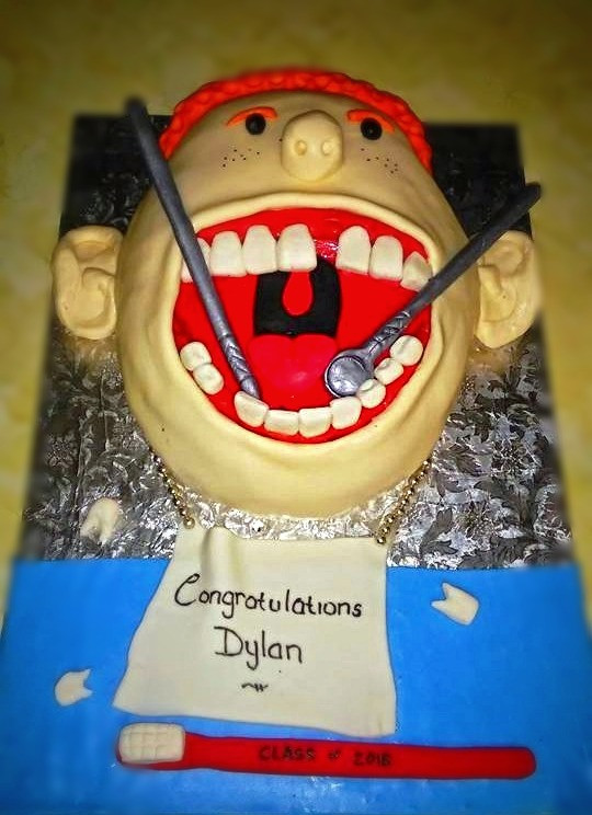 Dental School 2D Cake