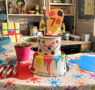 Painting Themed Tiered Cake