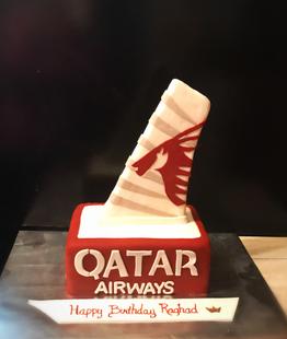 Qatar Airways Themed Cake