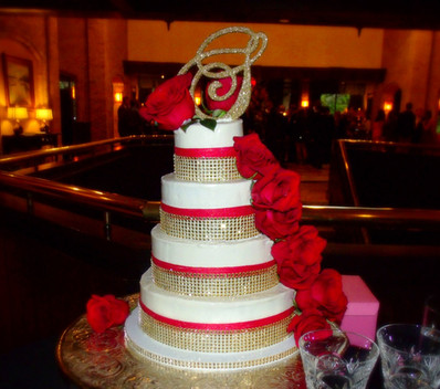 Red Roses and Gold Bling