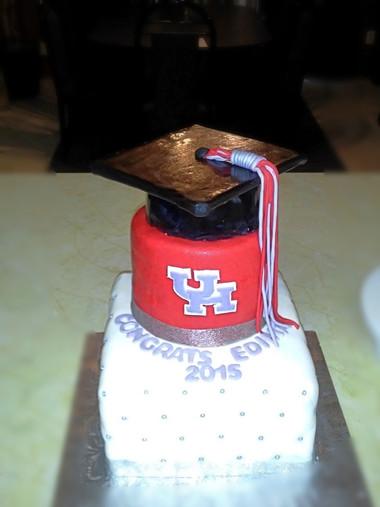 U of Houston Graduation Cake