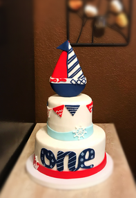 Nautical Themed tiered cake