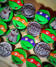Teenage Mutant Ninja Turtle Themed Cupcakes