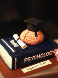 Psychology Themed Graduation Cake
