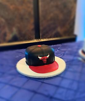 Chicago Bulls fitted cap themed cake.JPG
