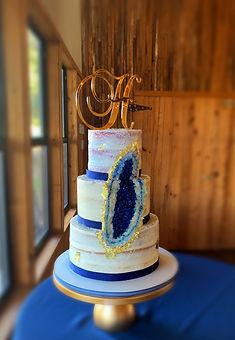 Tiered semi naked Geode Wedding Cake.JPG