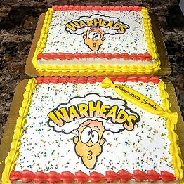 Warheads Candy Themed Sheet Cakes