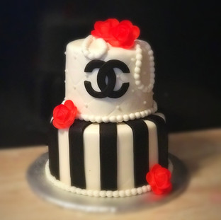 Chanel Themed Tiered Cake