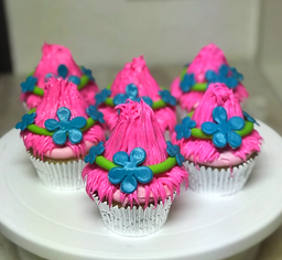 Princess Poppy Themed Cupcakes