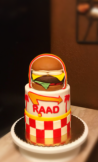In & Out Burger Themed Cake
