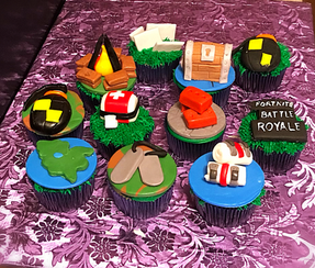 Fortnite Themed Cupcakes
