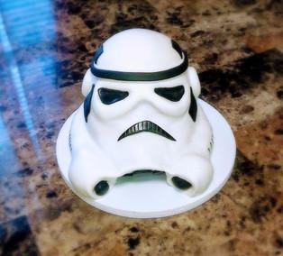 3D Storm Trooper Helmet Cake