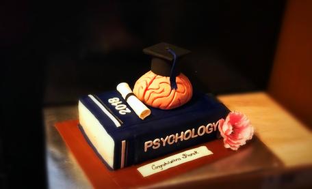 Graduation Cake Psychology Theme Cake
