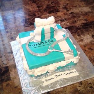 Tiffany & Co. Gift Box Cake