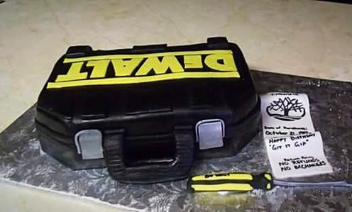DeWalt Toolbox Cake