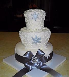 Winter Themed Wedding Cake