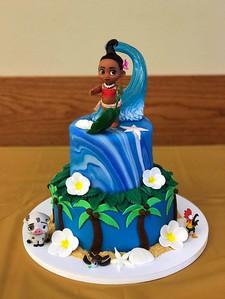 Moana Themed Tiered Cake