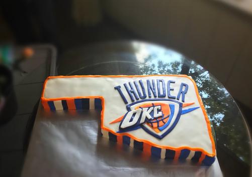 Oklahoma City Thunder 3D Relief Cake