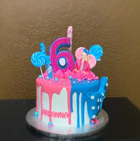 Jojo Siwa Themed Drip cake.JPG