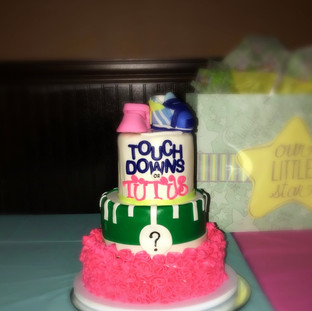 Touch Downs and Tutus Gender Neutral Tiered Cake