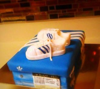 Adidas Shoe Box Cake