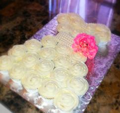 Bridal Shower Themed Cupcake cake