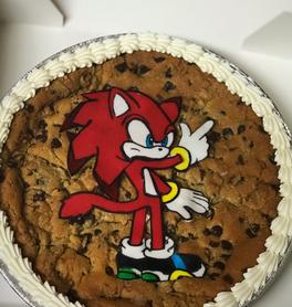 Sonic the Hedgehog Cookie Cake