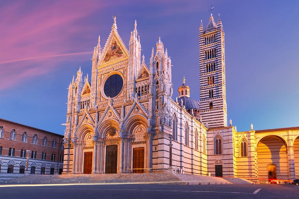 Tuscany horizontal stripped church