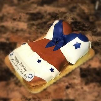 Dallas Cowboys Cheerleader Themed  Torso Cake