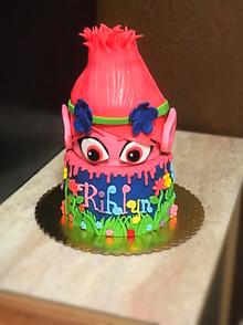 Poppy Troll Themed Tiered Cake 2.jpg