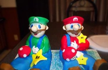 3D Mario Brothers Cake