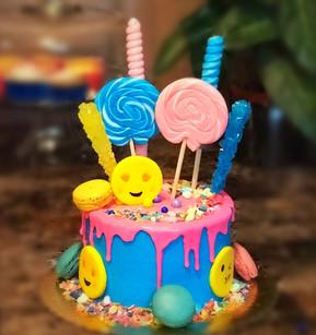Drip Cake with Emojis