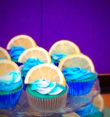 Blue Raspberry Lemonaide Cupcake