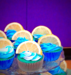 Blue Raspberry Lemonaide Cupcake