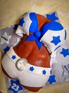 Dallas Cowboys Cheerleader Torso Cake