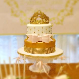Golden Crown Themed Cake