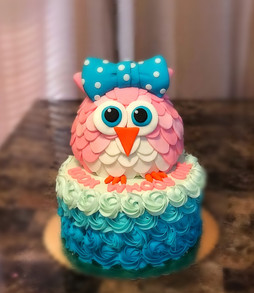 Baby Owl on hombre rosettes