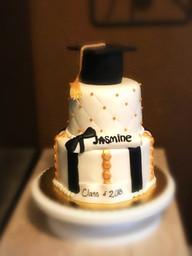 Black, white and gold graduation 1