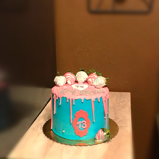 VS Pink themed Drip Cake