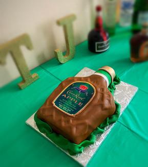 Apple Crown Royal Bottle cake.JPG