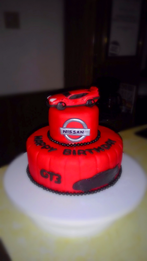 Red Nissan GT inspired cake