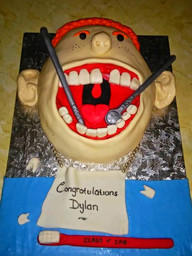 Dental School D Cake