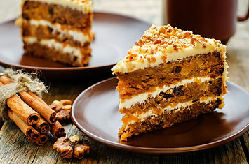 carrot cake with walnuts, prunes and dri