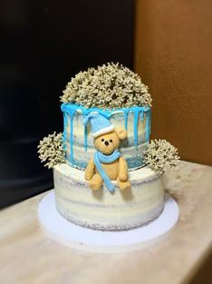Semi Naked baby bear themed cake .JPG