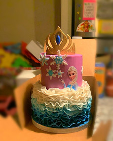 Elsa themed tiered cake .JPG