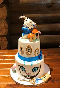 Alice in Wonderland Themed Cake 1 - Copy